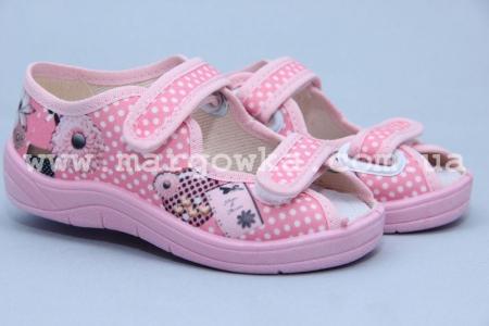 Тапочки Waldi 0032 для девочки розовые (A)
