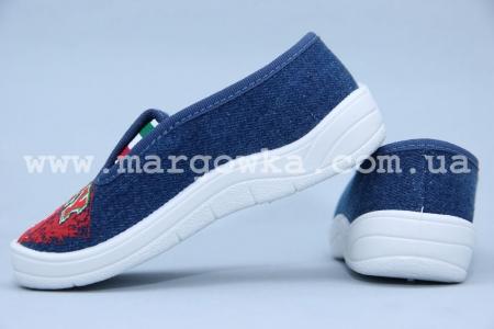 Тапочки Waldi 0033 для мальчика синие (A)