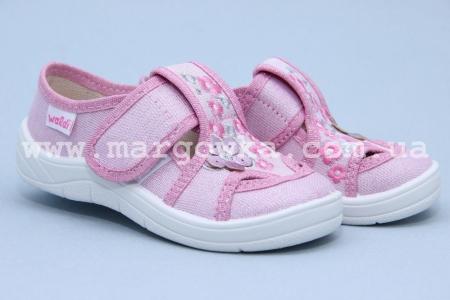 Тапочки Waldi 0041 для девочки розовые (A)