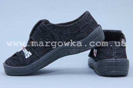 Тапочки Waldi 0037 для мальчика чёрные (A)