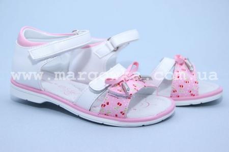 Босоножки Tom.M C-T05-73-B для девочки бело-розовые (A)