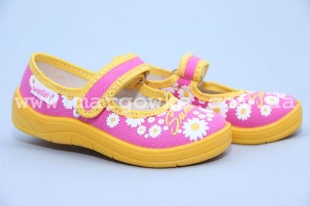Тапочки Waldi 124-518 для девочки розовые (A)