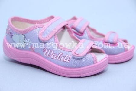 Тапочки Waldi 178-525-1 для девочки светло-сиреневые