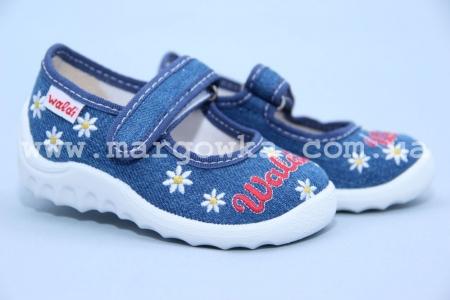 Тапочки Waldi 60-376 для девочки синие (G)