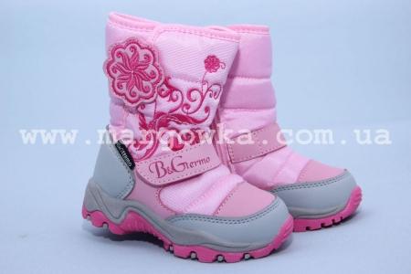 Термо-ботинки B&G TERMO R161-3206 для девочки розовые