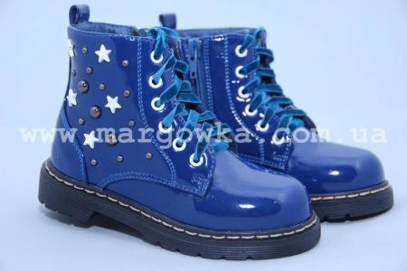 Ботинки Little Deer (B&G) LD1816-17 для девочки лаковые синие