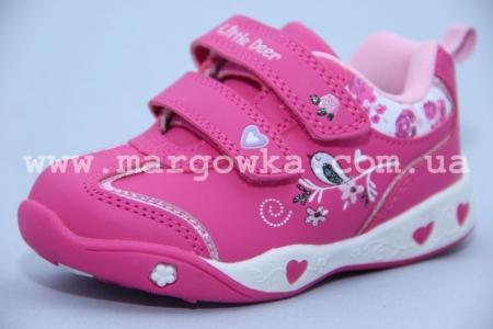 Кроссовки Little Deer (B&G) LD1115-1407 для девочки розовые