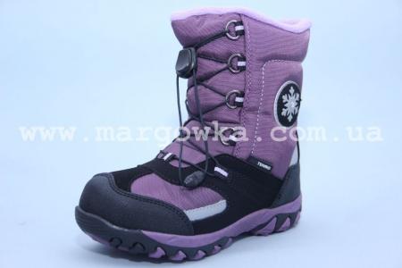 Термоботинки B&G TERMO R165-200 для девочки фиолетовые