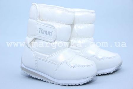 Дутики Tom.M C-T06-93-E для девочки белые
