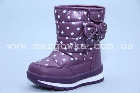 Дутики Tom.M 0818F для девочки фиолетовые (G)