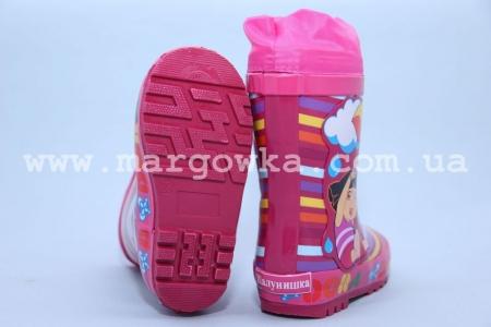 Резиновые сапоги Шалунишка R057 для девочки розовые