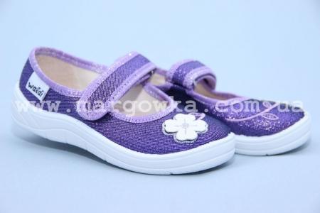 Тапочки Waldi 215-507 для девочки фиолетовые