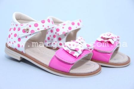 Босоножки Tom.M C-T89-06-D для девочки бело-розовые (G)