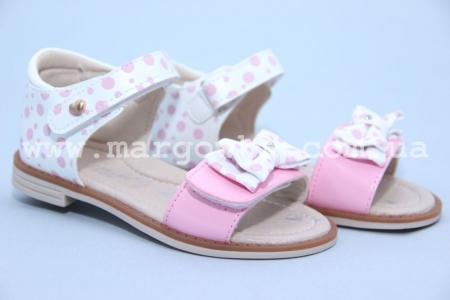 Босоножки Tom.M C-T89-06-E для девочки бело-розовые (G)