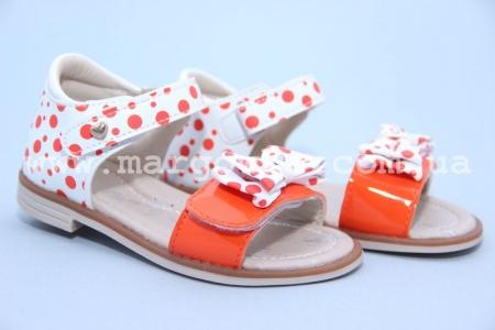 Босоножки Tom.M C-T89-06-F для девочки бело-оранжевые (G)
