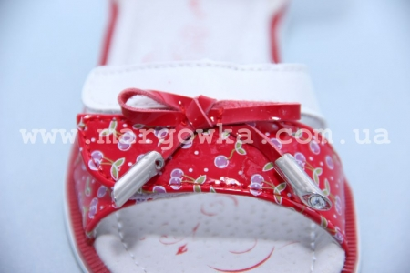 Босоножки Tom.M C-T05-73-G для девочки бело-красные (G)