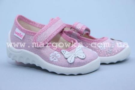 Тапочки Waldi 206-614 для девочки розовые (A)