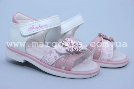 Босоножки Tom.M C-T89-30-G для девочки бело-розовые (A)