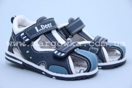 Босоножки Little Deer LD170-131 для мальчика синие (G)