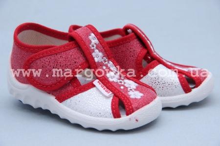 Тапочки Waldi 028 для девочки красные (A)