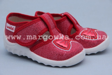 Тапочки Waldi 024 для девочки красные (A)