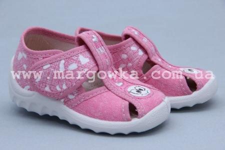 Тапочки Waldi 021 для девочки розовые (A)
