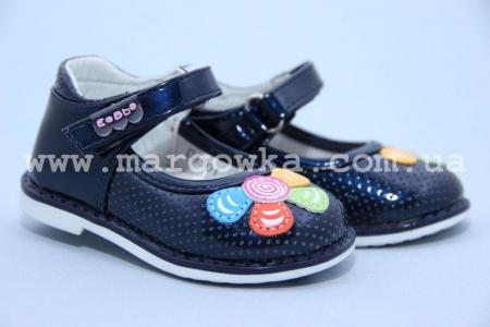 Туфли EeBb D1501blue для девочки синие МАЛОМЕРЯТ! (A)