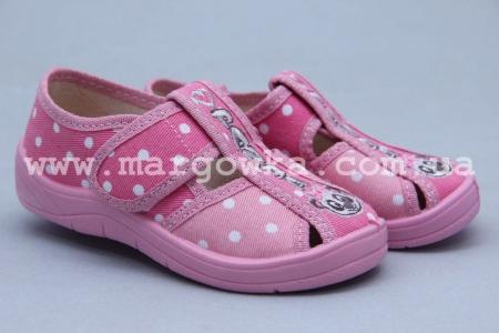 Тапочки Waldi 0047 для девочки розовые (A)
