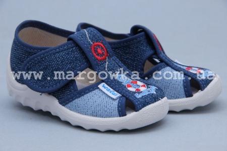 Тапочки Waldi 029 для мальчика синие (A)