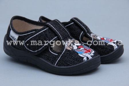 Тапочки Waldi 0042 для мальчика чёрные (A)