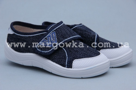 Тапочки Waldi 0043 для мальчика синие (A)