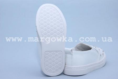 Слипоны Boyang (Tom.M) C-06-13-B для девочки белые. МАЛОМЕРЯТ! (A)