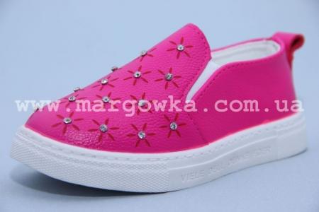 Слипоны Boyang (Tom.M) C-06-13-A для девочки розовые. МАЛОМЕРЯТ! (G)