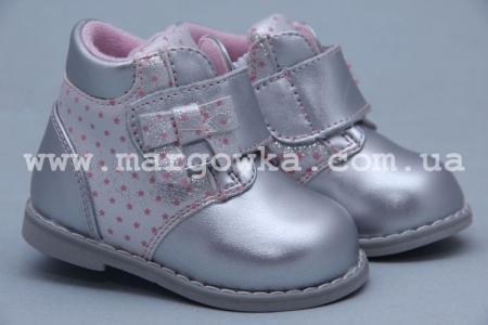 Ботинки BIKI 3938E для девочки серебристые (A)
