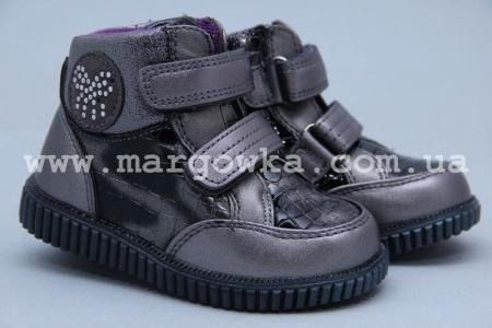 Ботинки Tom.M 5099A для девочки серебристые (A)